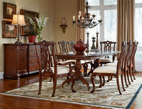 Cherry Dining Room Set by Cherry Grove Classic Antique Cherry Pedestal Dining Room