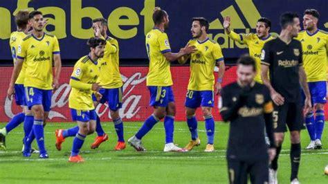 La Liga: Barcelona lose to Cadiz; Atletico Madrid go top ...
