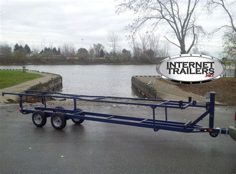 Triton Boats Trailer Parts by 2017 Triton Scissor Lift Pontoon Trailer 18 21