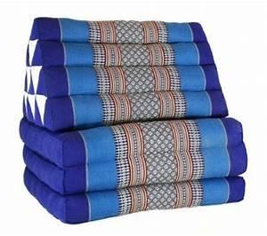 coussin thai pouf triangulaire capoc coton avec With tapis yoga avec canape serenity