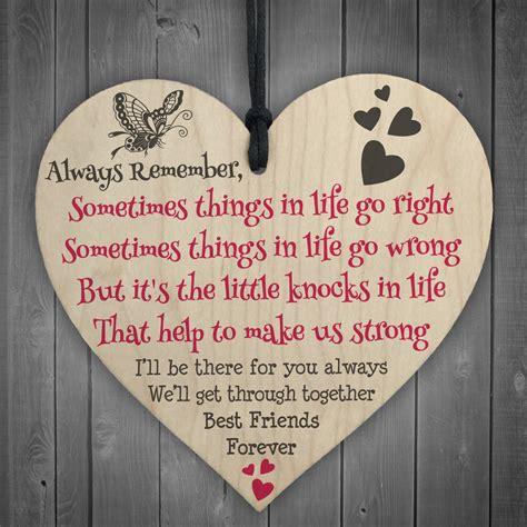 friends  friendship love heart gift hanging plaque
