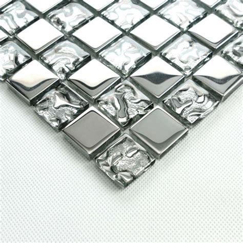 Glass Bathroom Tiles Ideas by Silver Glass Tile Backsplash Ideas Bathroom Mosaic Tiles