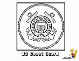 Coloring Pages Flag Guard Coast Army American Seal Yescoloring Boys Flags Ship Military Navy National Usa Armed Forces Veterans Seals sketch template