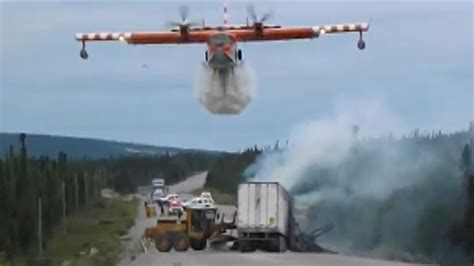 water bomber plane puts  street fire  canada todaycom