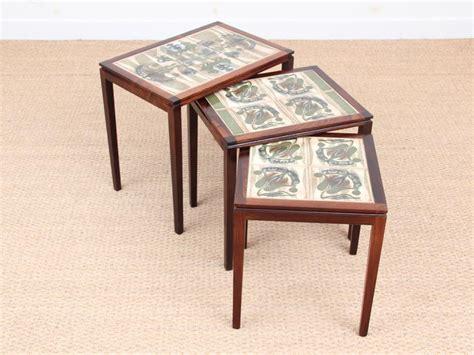 vintage ceramic table ls mid century modern scandinavian nesting tables in rio
