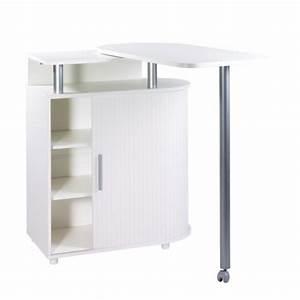 Table Cuisine Avec Rangement : meuble de rangement blanc avec table pivotante int gr e simmob ~ Teatrodelosmanantiales.com Idées de Décoration