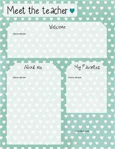 Mint heart meet the teacher template editable templates the teacher and the o39jays for Meet the teacher editable template