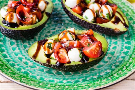 Clean Eating Caprese Stuffed Avocados Are Amazing