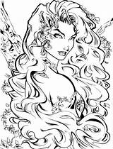 Ivy Poison Coloring Pages Dc Deviantart Adult Comics Drawing Artcrawl Character Books Batman Comic Printable Drawings Line Lillian Isley Pamela sketch template