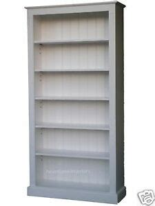 2 Ft Wide Bookcase by Pine Bookcase 6ft X 3ft Wide 100 Solid Wood White