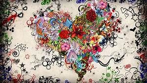 Abstract Paintings Of Love Wallpaper Free HD | I HD Images