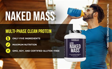 Amazon.com: Vanilla Less Naked Mass - All Natural Weight