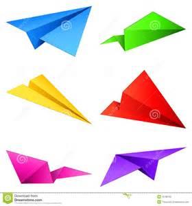 Color Paper Airplane Designs