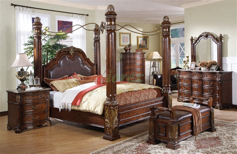 Wood Canopy Bedroom Sets by Leather Headboard Post Bed With A Metal Canopy I Like How