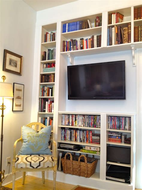 Mel & Liza Built In Bookshelves Before & After Ikea Hack