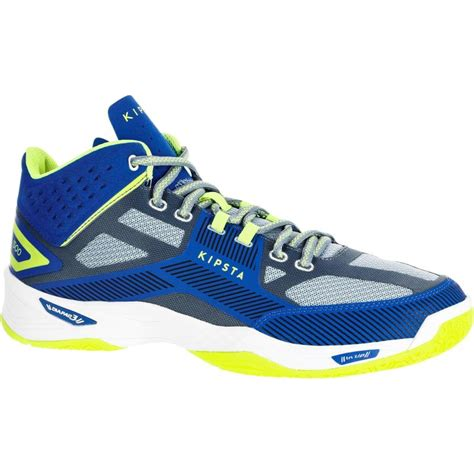 allsix  mid volleyball shoes blue decathlon