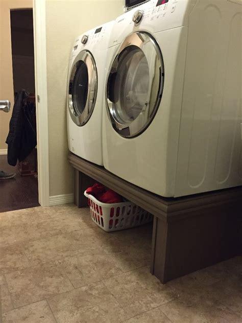 step washerdryer pedestal laundry room pedestal
