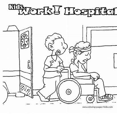 Coloring Pages Hospital Doctors Printable Jobs Doctor
