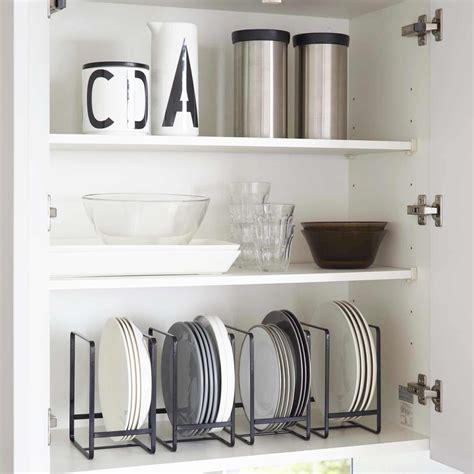 rangement vaisselle cuisine range assiette noir rangement vertical vaisselle