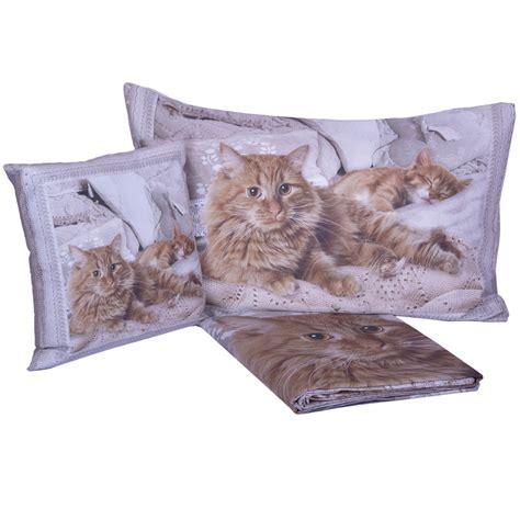 parure copripiumino gatti miao stampa digitale  puro cotone cose  casa  mondo