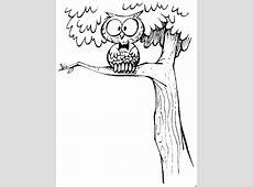 Eule Auf Einem Baum Ausmalbild & Malvorlage Comics