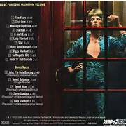 The rear cover of the Ziggy Stardust album  Rykodisc  Ziggy Stardust And The Spiders From Mars Album Cover