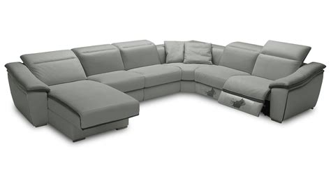 canapé cuir relax canape angle droit relax hypocus gris5503 gris9019