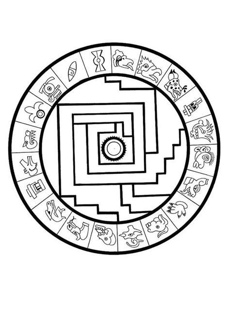 aztec calendar drawing clipart
