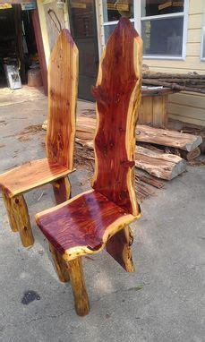 custom  edge cedar dining table set  cedar furniture