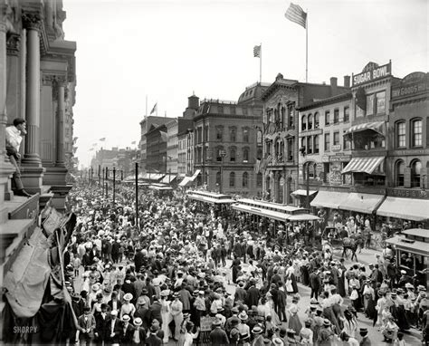 Buffalo New York 1900 Labor Day Parade Crowd Main