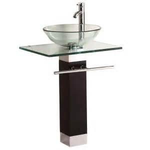 Pedestal Sink Cabinet Home Depot kokols pedestal combo bathroom sink in clear wf 09 the
