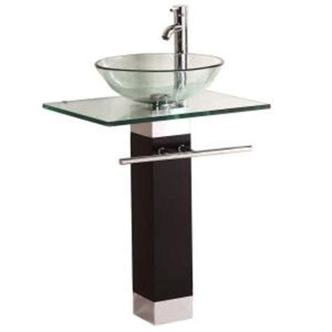 pedestal bathroom sink at home depot kokols pedestal combo bathroom sink in clear wf 09 the