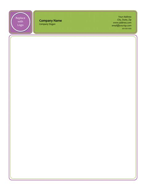letterhead templates  word elegant designs