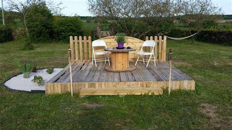 terrasse et pergola en palette et bois de r 233 cup 233 ration