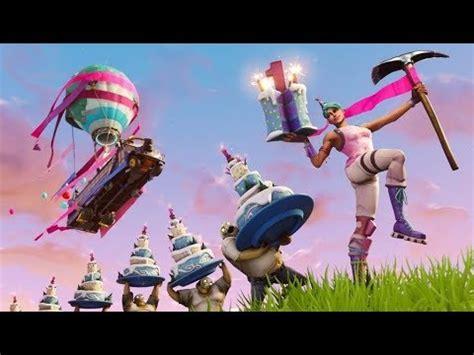 fortnite birthday battle bus   hours youtube