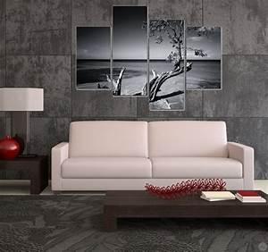 Tableau Salon Moderne : tableau multiple design l 39 arbre sur mer artwall and co ~ Farleysfitness.com Idées de Décoration