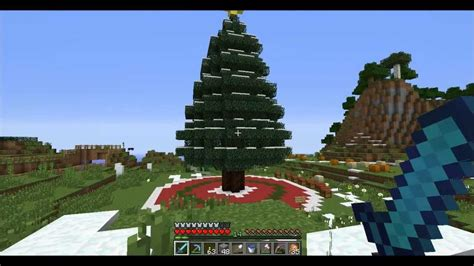 minecraft tutorial   build  christmas tree youtube