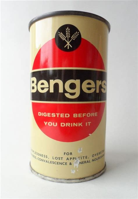 vintage kitchen tin bengers powder food drink fisons pharmaceutical loughborough england