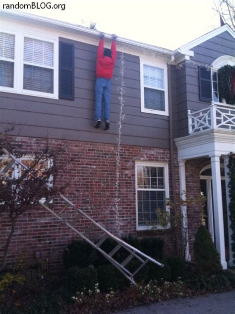 install christmas decorations on roof fails photos huffpost