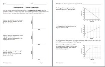 Motion Graph Worksheet - Fatmatoru
