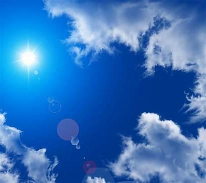Biru Langit Matahari Siang Hari Gumpalan Atmosfer