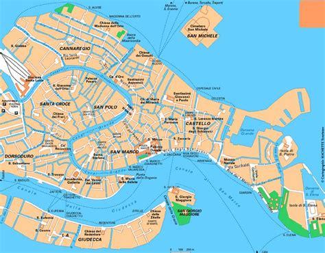 Carte Detaillee Des Monuments De by Carte De Venise Plan Touristique Monuments De Venise