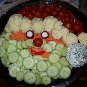 Santa Veggie tray Recipes Appetizers