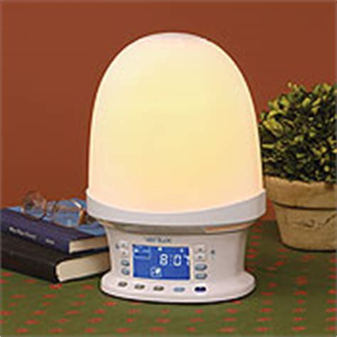 full spectrum light alarm clock verilux rise shine natural wake up light and alarm clock