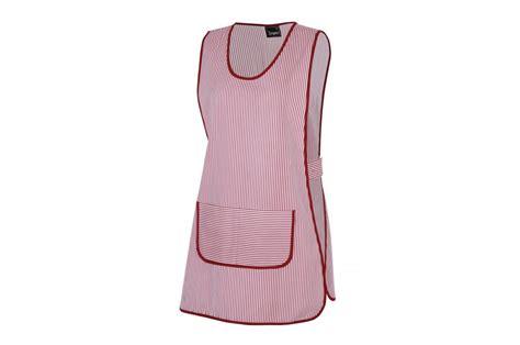tenue femme de chambre tablier type chasuble de travail à rayures cotepro