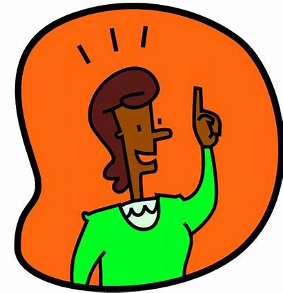 Thinking Clipart Person Woman Clip Think Transparent