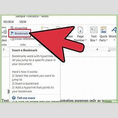 Come Aggiungere Un Segnalibro In Microsoft Word