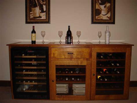 handmade quarter sawn white oak wine cabinet
