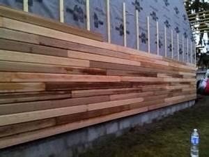 Que Mettre Sur Un Mur En Parpaing Interieur : pose du bardage sur murs ext rieur en ossature bois ~ Melissatoandfro.com Idées de Décoration