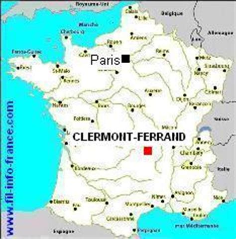 clermont ferrand carte de france voyages cartes